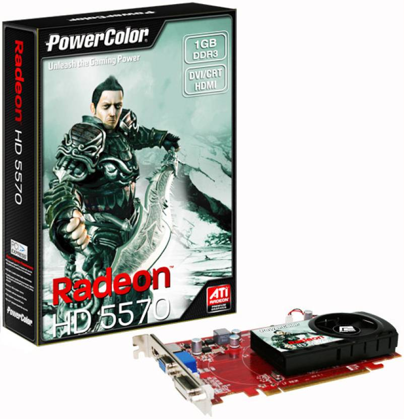 PowerColor AMD/ATI Radeon HD5570 1 GB DDR3 Graphics Card