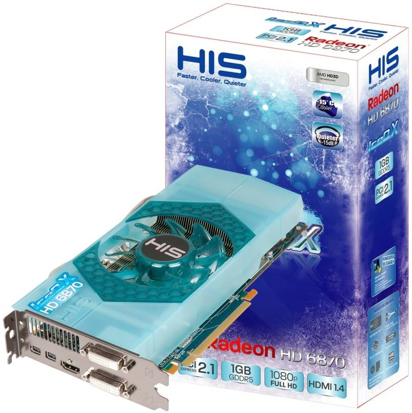HIS AMD/ATI Radeon HD 6870 IceQ X GPU 1 GB GDDR5 Graphics Card