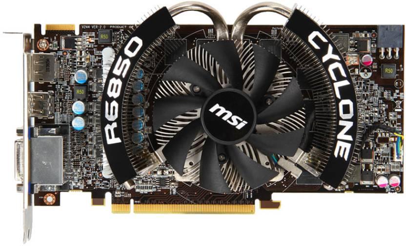 MSI AMD/ATI R6850 Cyclone 1GD5 Power Edition/OC 1 GB GDDR5 Graphics Card