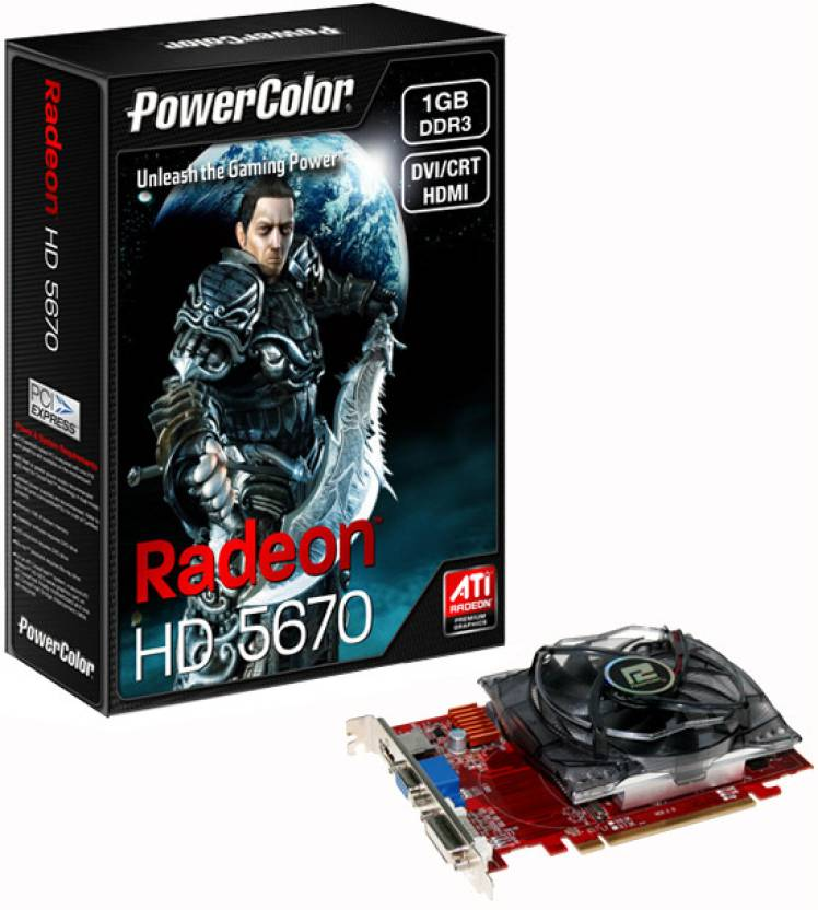 PowerColor AMD/ATI Radeon HD5670 1 GB DDR3 Graphics Card