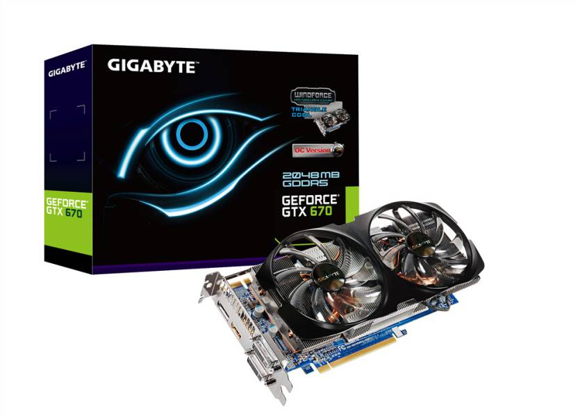 Gigabyte NVIDIA GeForce GTX 670 2 GB GDDR5 GV-N670WF2-2GD Graphics Card