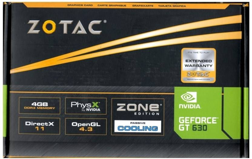 Geforce gt 630 zotac synergy 4gb edition can run pc game system.