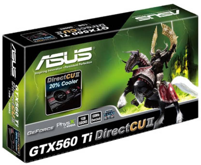 Asus NVIDIA GTX 560 Ti Direct CUII 1 GB DDR5 Graphics Card