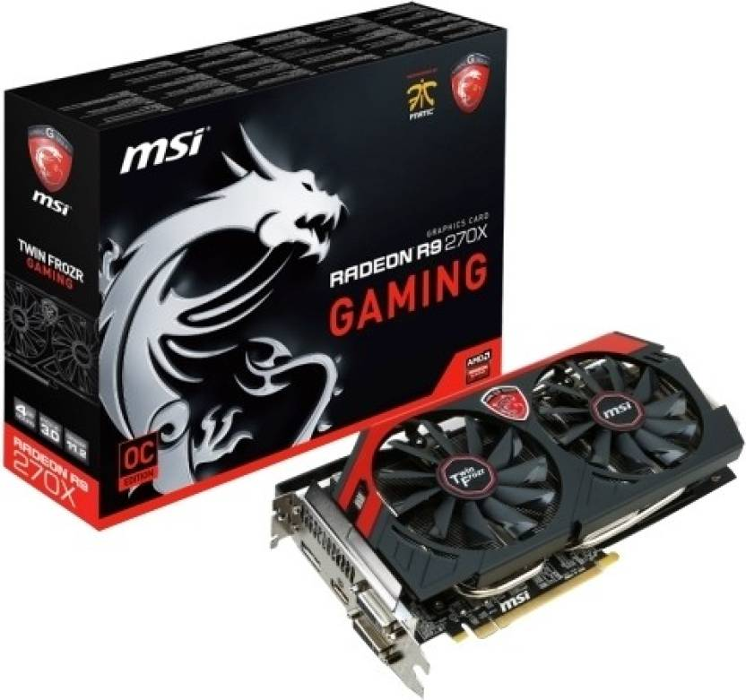 MSI AMD/ATI R9 270X Gaming 4G 4 GB GDDR5 Graphics Card