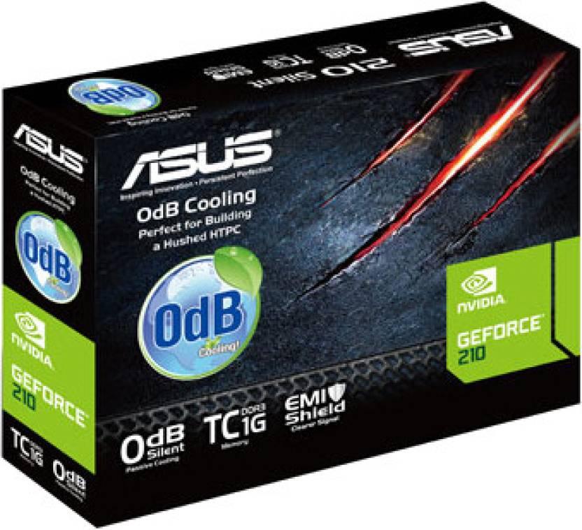 Asus NVIDIA 210-SL-TC1GD3-L 1 GB DDR3 Graphics Card