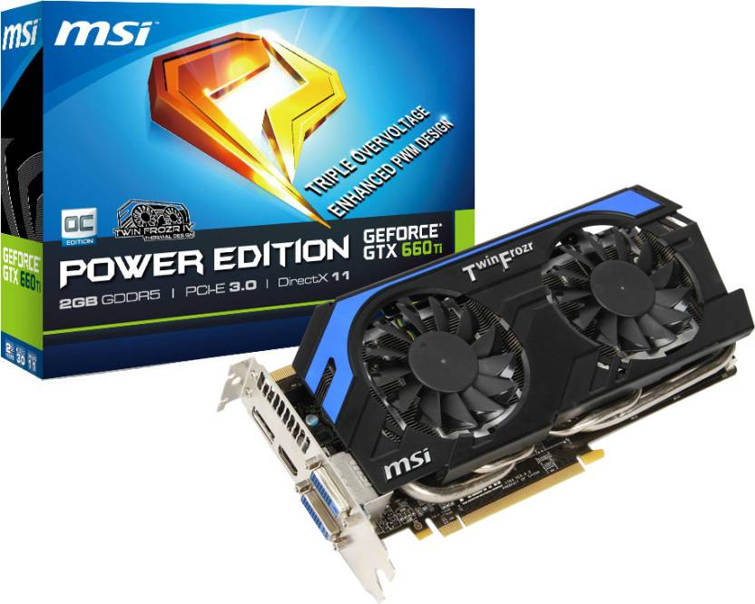 MSI NVIDIA N660Ti PE 2GD5/OC 2 GB GDDR5 Graphics Card