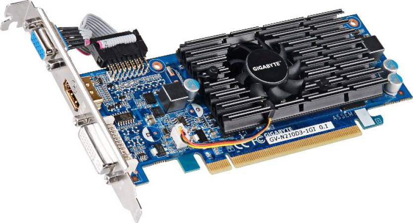 Gigabyte NVIDIA GV-N210D3-1GI 1 GB DDR3 Graphics Card