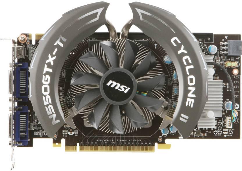 MSI NVIDIA N550GTX-Ti Cyclone II 1GD5/OC 1 GB GDDR5 Graphics Card