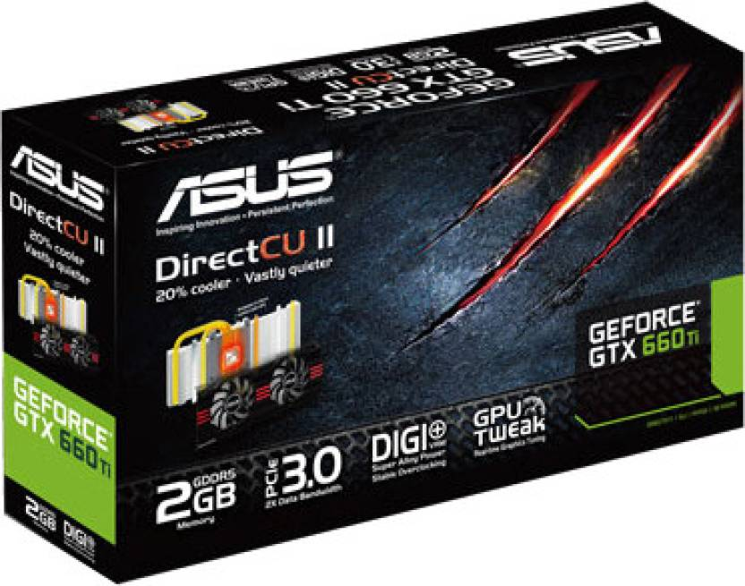 Asus NVIDIA GTX660 TI-DC2-2GD5 2 GB GDDR5 Graphics Card