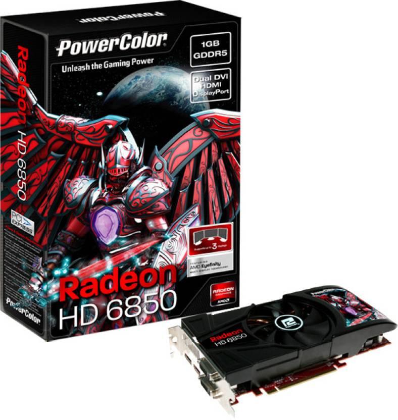 PowerColor AMD/ATI Radeon HD6850 1 GB GDDR5 Graphics Card