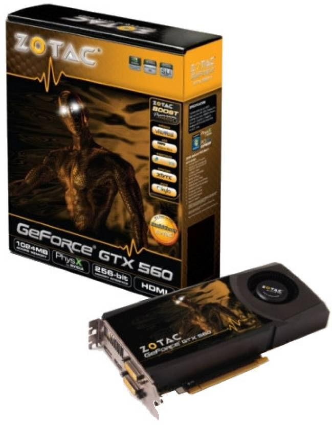 ZOTAC NVIDIA GeForce GTX 560 1 GB DDR5 Graphics Card