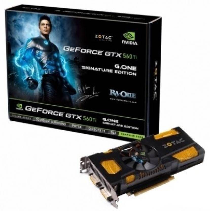 Zotac NVIDIA GeForce GTX 560 Ti G.One Signature Edition 1 GB DDR5 Graphics Card