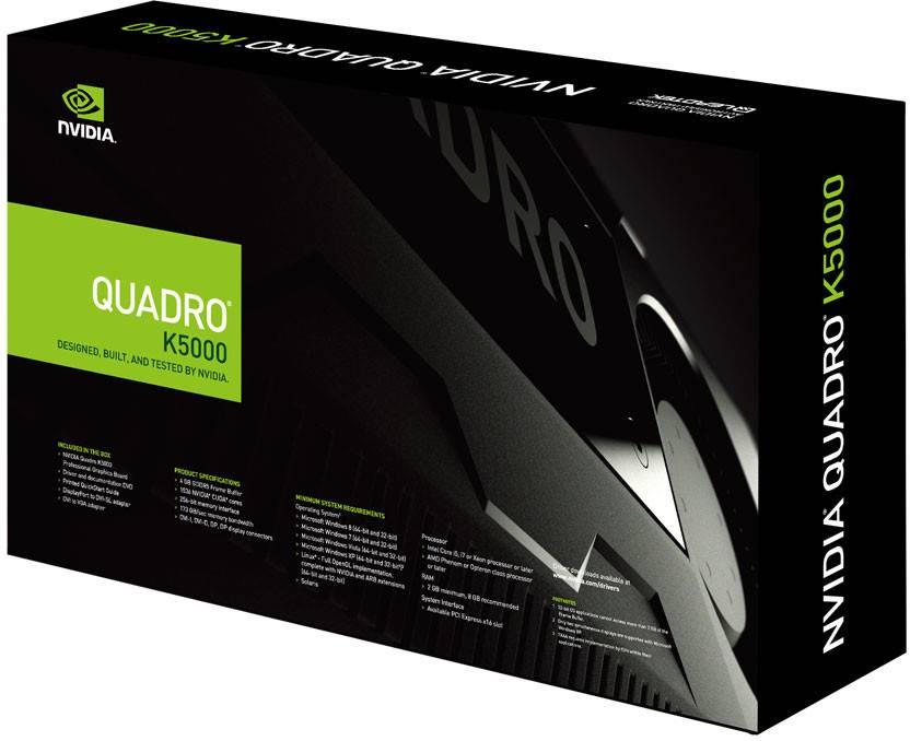 Leadtek NVIDIA Quadro K5000 4 GB DDR5 Graphics Card