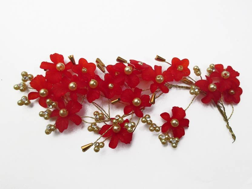 824300fe9e1 WigOWig Beautiful Red Hair Brooches for Ladies Hair Band Price in ...