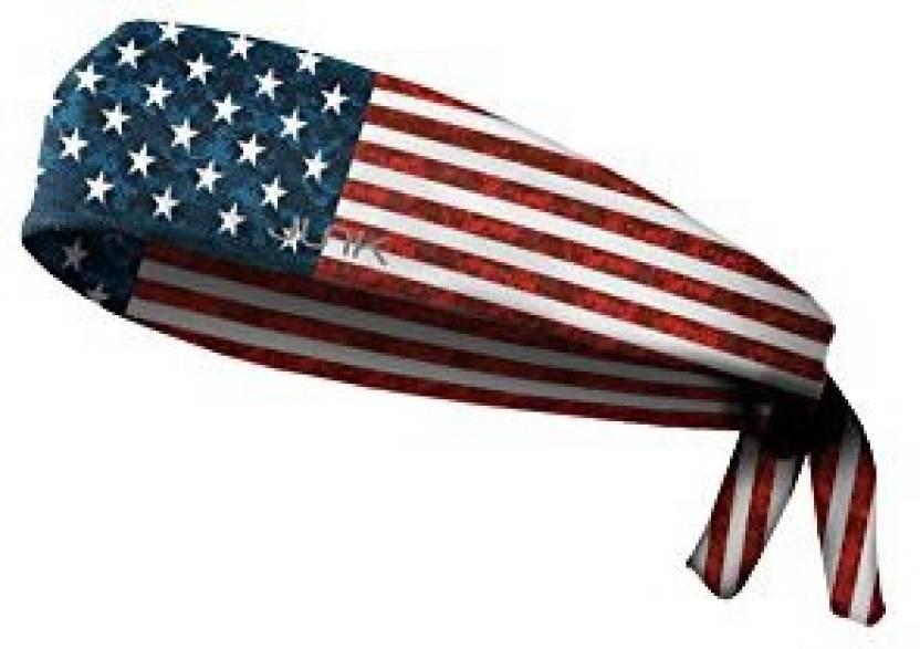 JUNK Brands Pro Sport Honor Americana Collection Flex Tie Headband Head  Band (White 0150d9bddf8