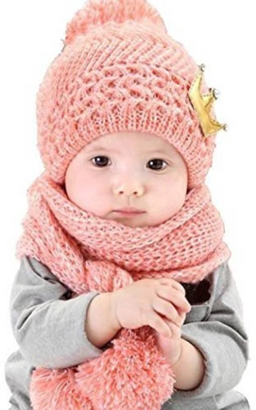 d575d9bff Datework Baby Datework Hat + Scarf ,Cute Baby Kids Girls Boys Warm ...
