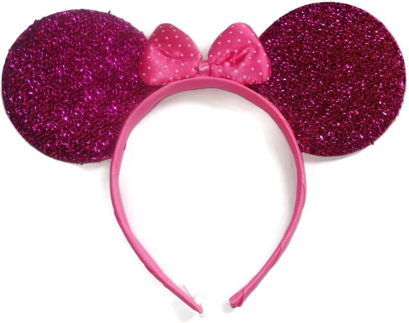 Flaunt Chic Mickey Mouse Ears With Bow Hair Band Price in India ... bf1245c821f