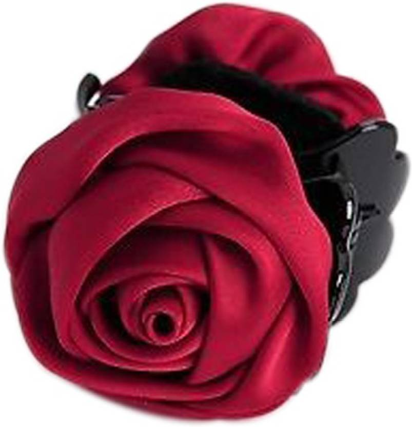 Young Forever Claret Red Rose Jaw Clip Hair Clutcher Hair Clip