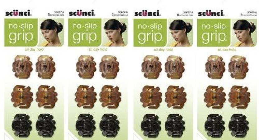 Scunci No Slip Octopus Jaw Clips 24 Ct Mini 2 5 Cm Hair