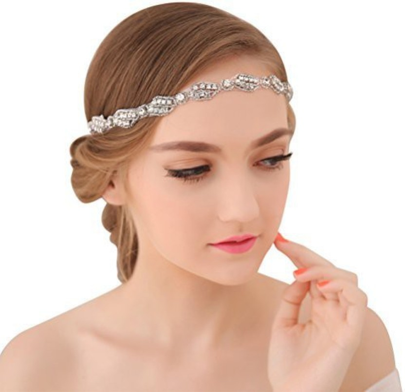 Popular Head Piece Headband Crystal Pearl Party Hair Band Wedding Accessories