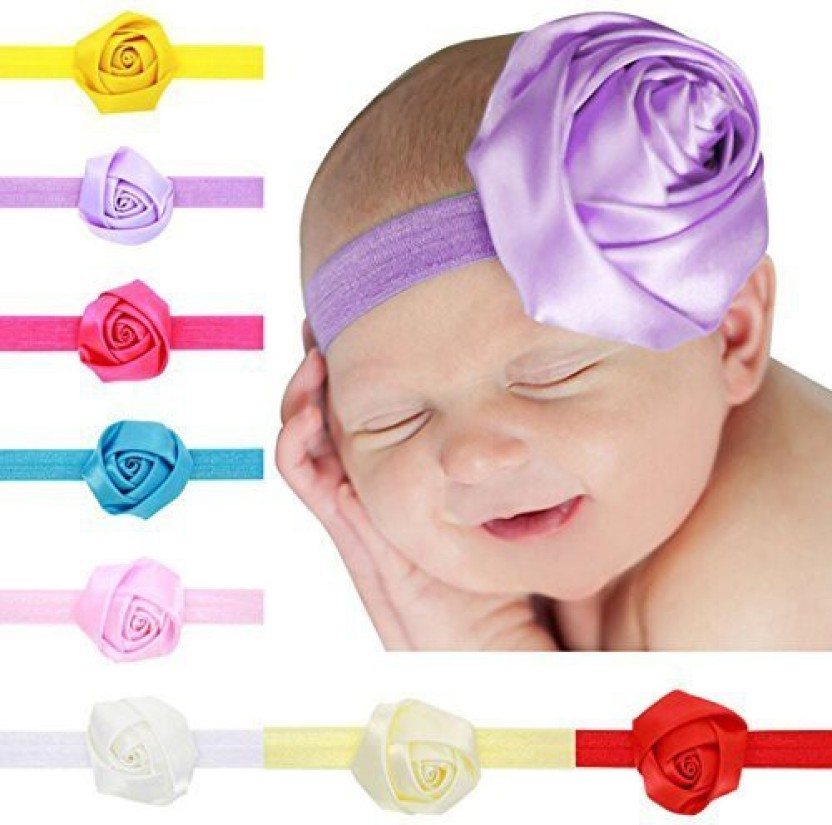 Lovely Newborn Baby Kids Lace Flower Headwear Hair Decor Headdress Headband TB