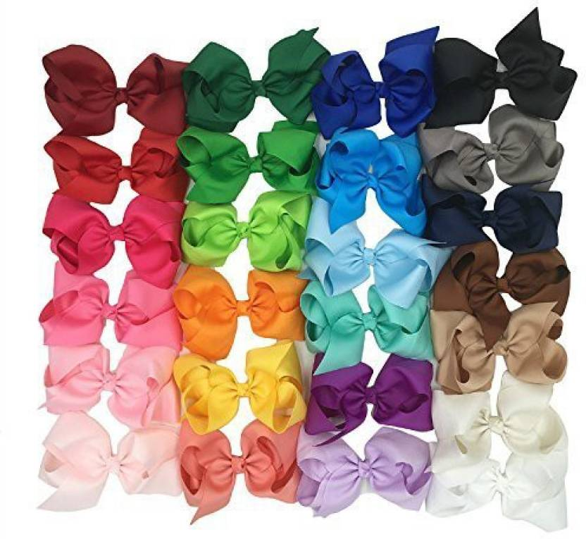 Xima Xima 25pcs 6 Inch Big Ribbon Bows Girls Hair Accessories Hair