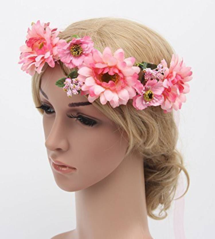 Girl's Hair Accessories Festival Wedding Wreath Garland Crown Flower Headpiece Photography Tool For Adults And Children Apparel Accessories