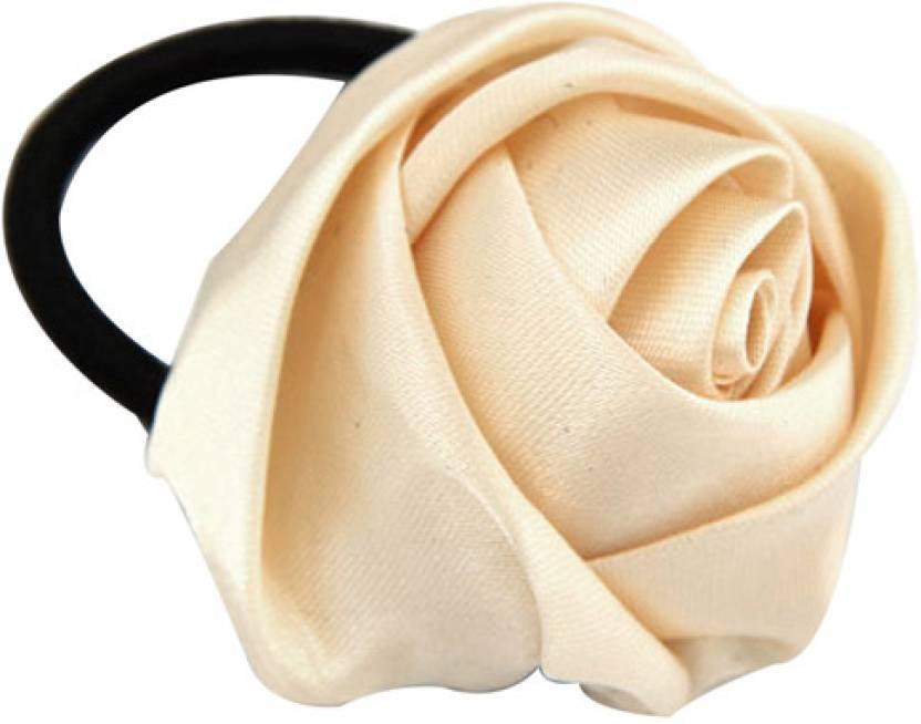 Young   Forever Creme satin rose ponytail holder Hair Band Price in ... 4e4b7af89ab