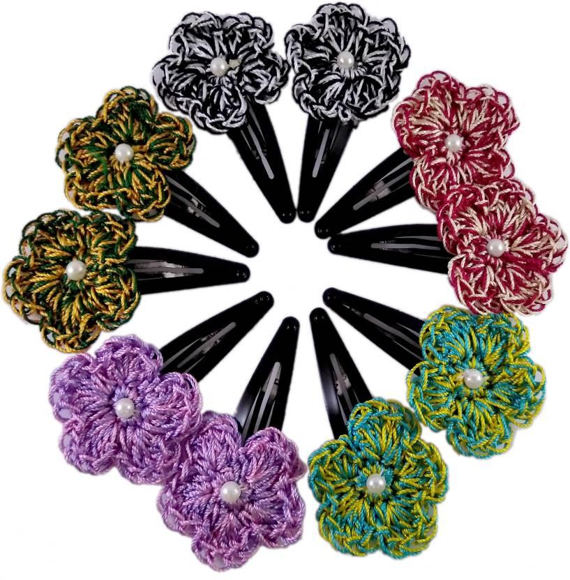 Threads N Ribbons Crochet Multi Color Hair Clip Price In India Buy