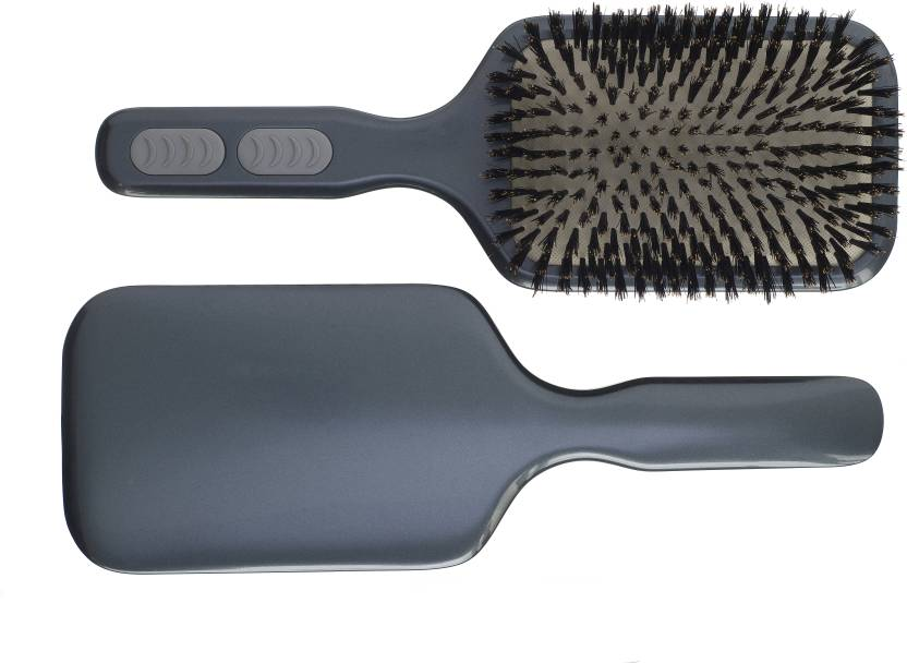 Kent AHP12 Pure Bristle Extra Large Paddle Brush - Grey
