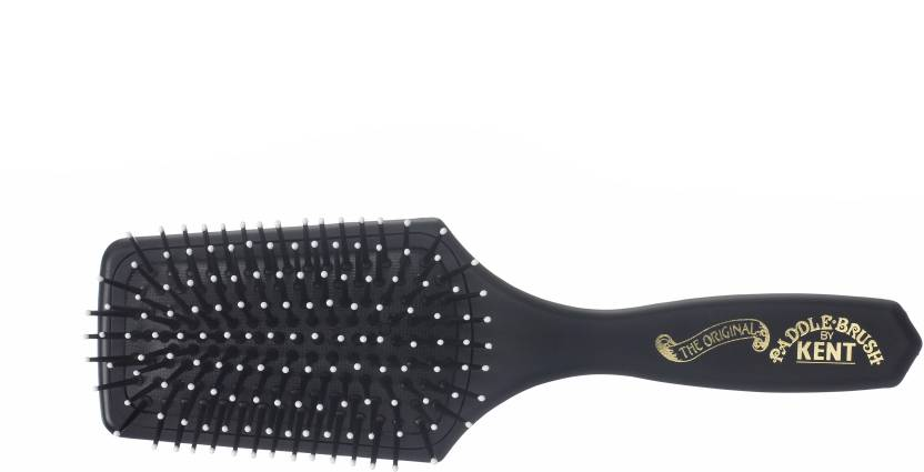 Kent LPB2 Super Soft Cushion Medium Paddle Brush - Carbon Black