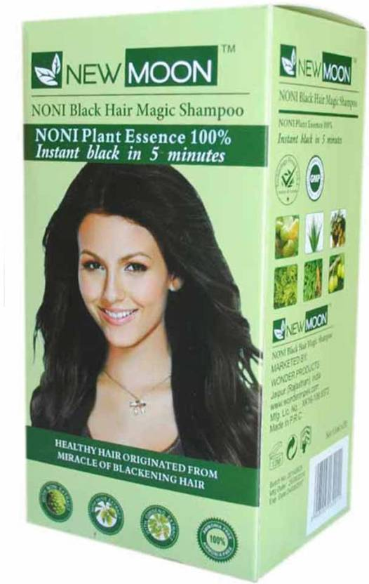 New Moon Noni Natural Black Hair Dye Shampoo 20 Sachets  Hair Color