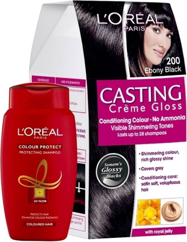 Loreal Paris Casting Creme Gloss Ebony Black 200 With Offer Hair