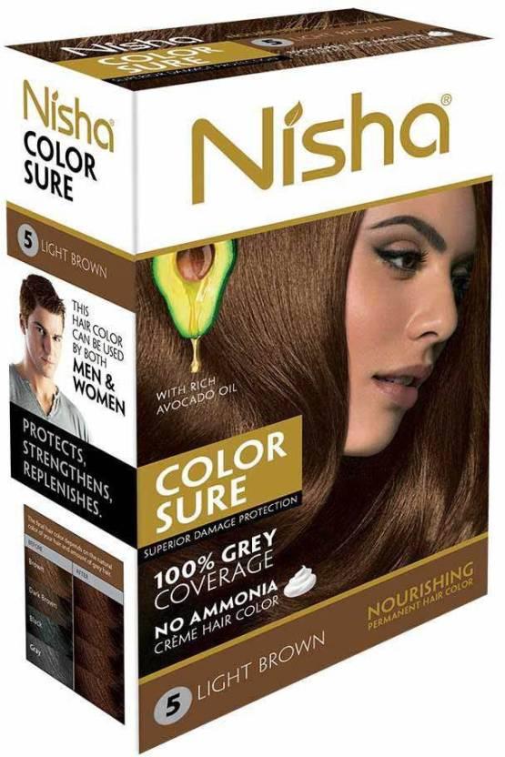 Nisha Color Sure Cream 80 Gm Hair Color