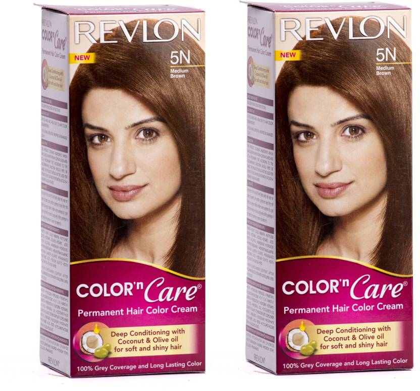Revlon Permanent Hair Color Cream Medium Brown 5N Pack Of 2 Hair Color