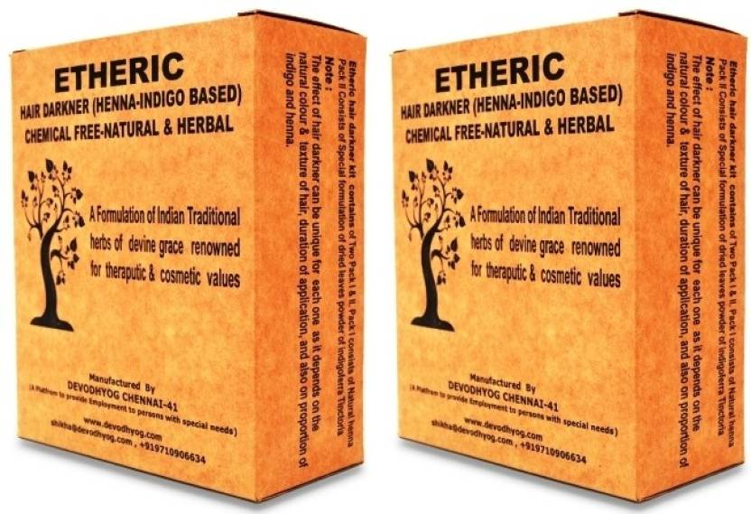 Etheric Henna & Indigo Based Combo Pack Hair Color