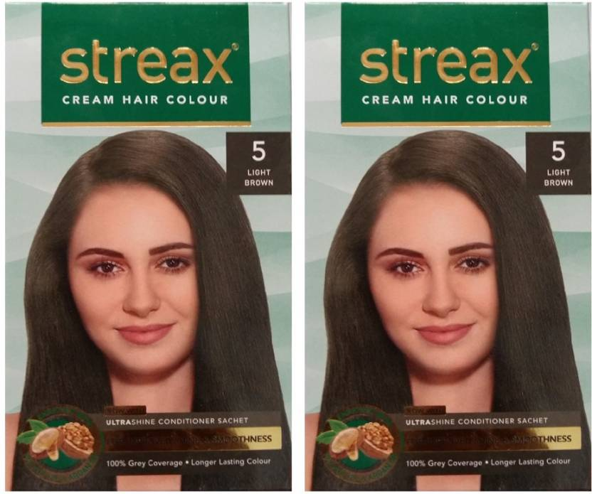 Streax Cream Light Brown 5 Pack Of 2 Hair Color Price In India