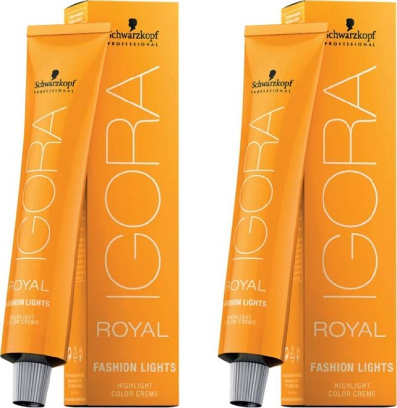 Schwarzkopf Igora Royal Cream Fashion Lights Pack Of 2 Hair Color