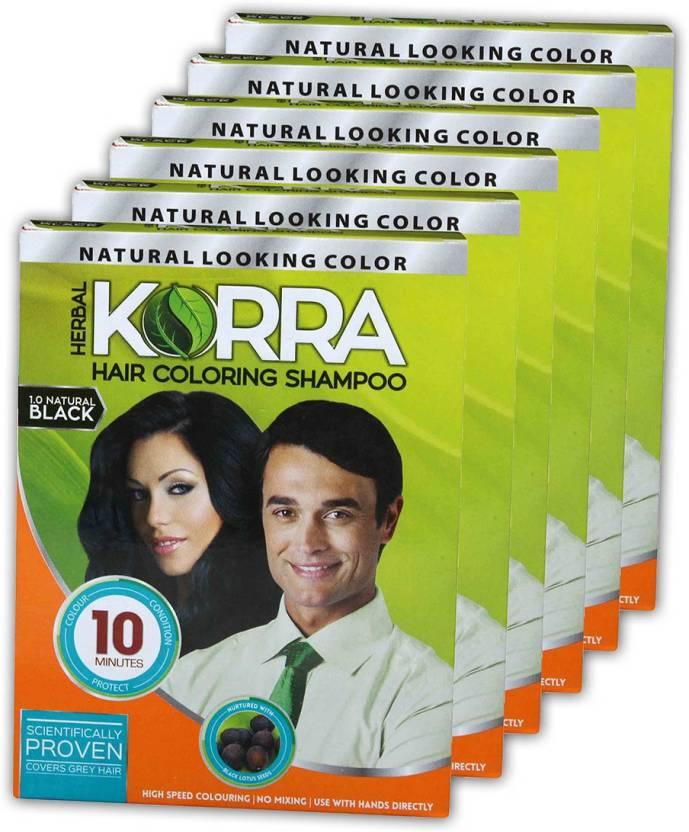 Korra Coloring Shampoo Black Hair Color