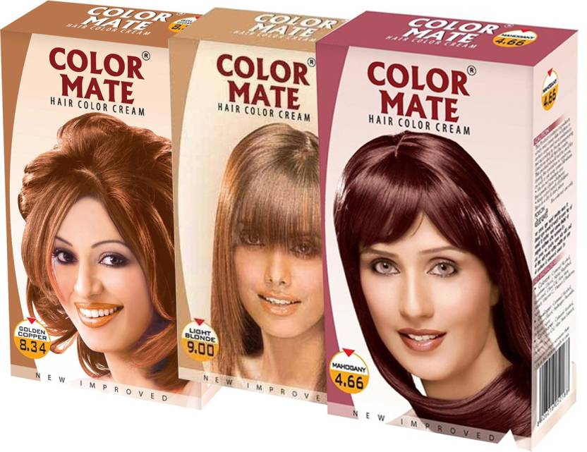 Color Mate Golden Copper Light Blonde Mahogany Hair Color Price