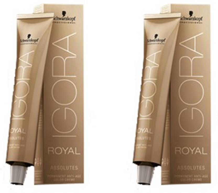 dc2d92ac5b Schwarzkopf Igora Royal Absolutes - Pack of 2 Hair Color (5-60 Light Brown  Gold Natural)