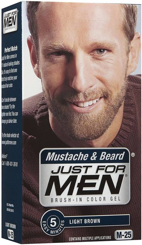 Just For Men Mustache & Beard Light Brown M-25 Hair Color - Price in ...