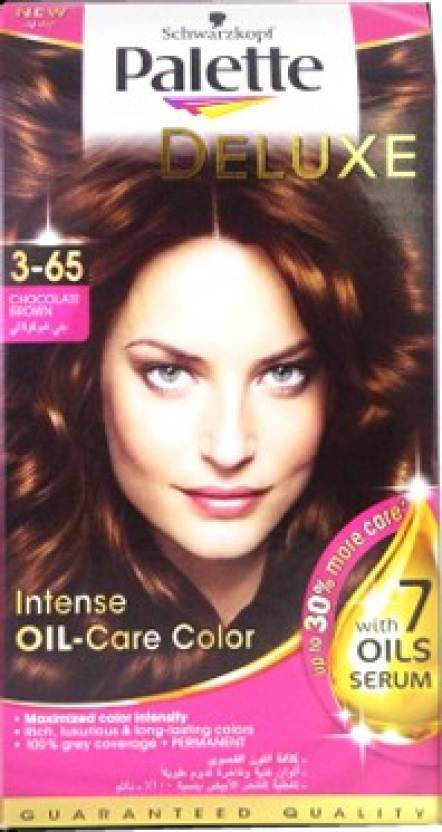Schwarzkopf Palette Deluxe Intense Oil Care Color 3 65 Chocolate Brown Hair