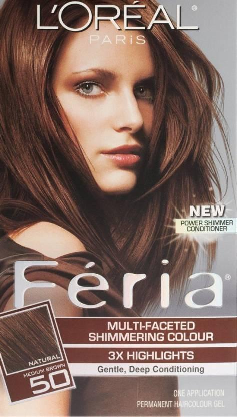 a767c38a9 L Oreal Paris Feria Hair Color (50 Medium Brown Havana Brown)