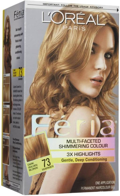 e50fc3447 L Oreal Paris Feria Multi-faceted Shimmering Hair Color (Dark Golden Blonde)