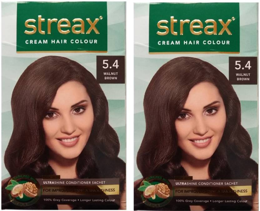 Streax Cream Walnut Brown 54 Pack Of 2 Hair Color Price In