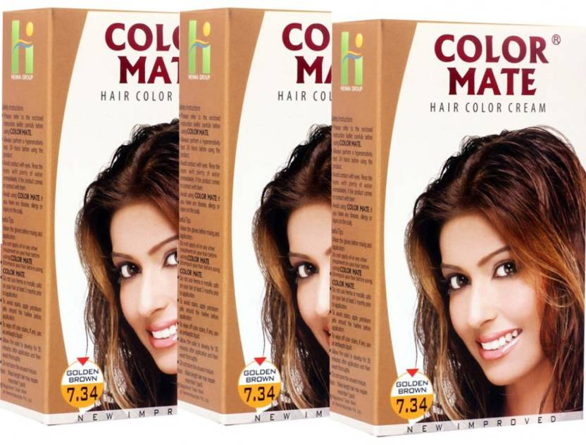Color Mate Golden Brown Hair Color Price In India Buy Color Mate