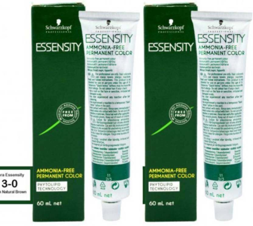 Schwarzkopf Professional Essensity Ammonia Free Permanent Pack of 2 Hair Color