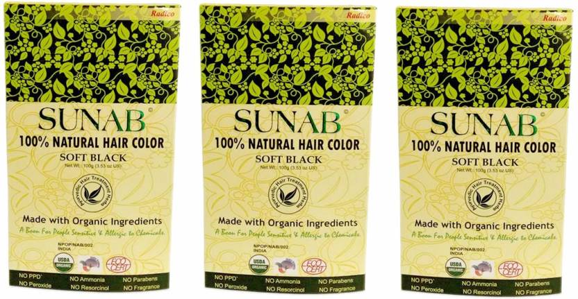 Sunab Certified Organic & 100% Natural Hair Color
