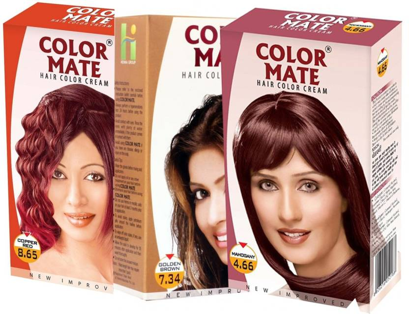 Color Mate Copper Red Golden Brownmahogany Hair Color Price In